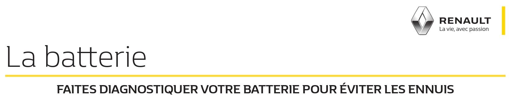 La batterie Renault